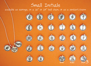 small letter charm examples hanni jewelry