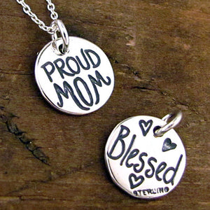 proud mom charm blessed pendant