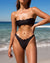 iixiist Apollo Bandeau Ink Black Bikini Top Strapless, Seamless Swimwear Frankie Swim Frankie Swimwear Frankii Swim