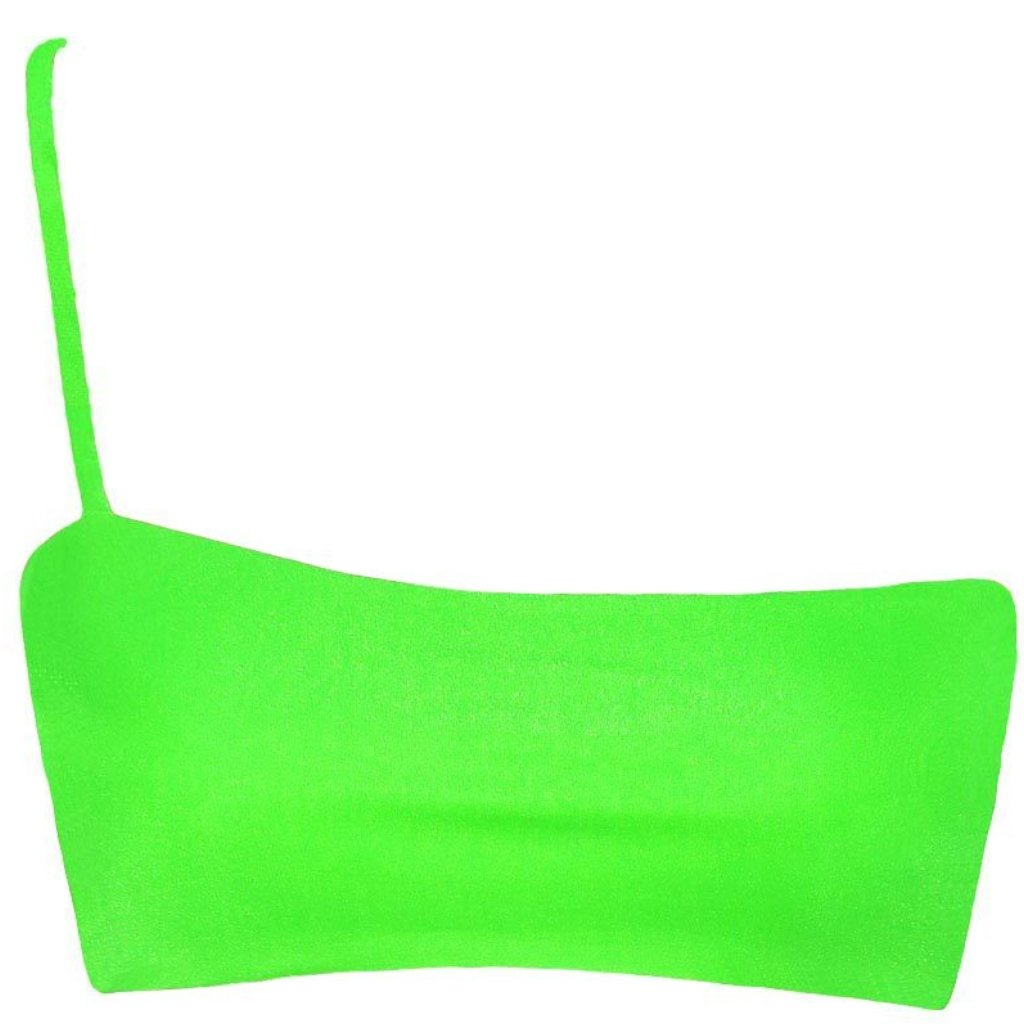 CANNES CROP LIME MATTE ELECTRIC GREEN SEAMLESS FRANKIE SWIMWEAR FRANKIESWIMWEAR FRANKII SWIM FANKIISWIM BIKINI SWIMWEAR