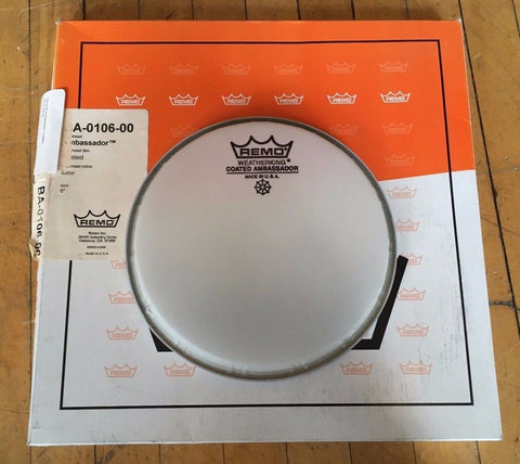 "Remo 6"" Coated Ambassador Drum Head"