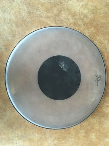 "Vintage Rogers 16"" Clear Black Dot Drum Head"
