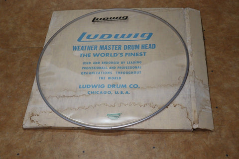 "Ludwig 30"" Clear Bass Drum Head 1970's"