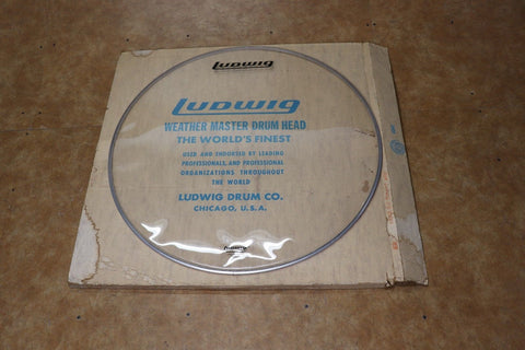 "Ludwig 32"" Clear Bass Drum Head 1970's"