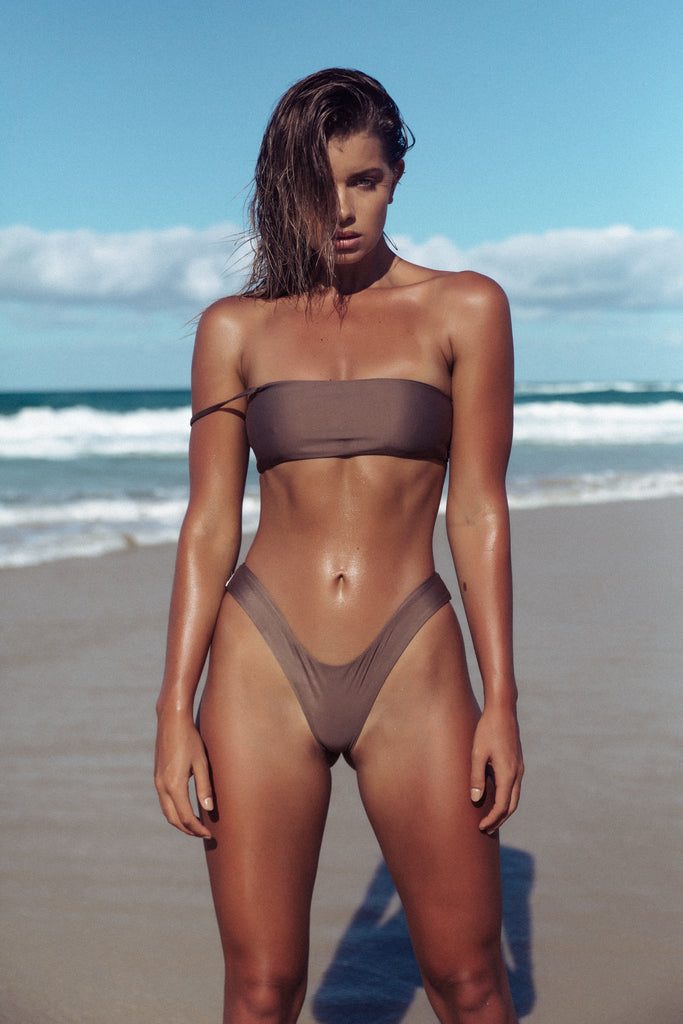 BARBADOS BOTTOM CANNES CROP COFFEE MATTE SEAMLESS FRANKIE SWIMWEAR FRANKIESWIMWEAR FRANKII SWIM FANKIISWIM  BIKINI SWIMWEAR