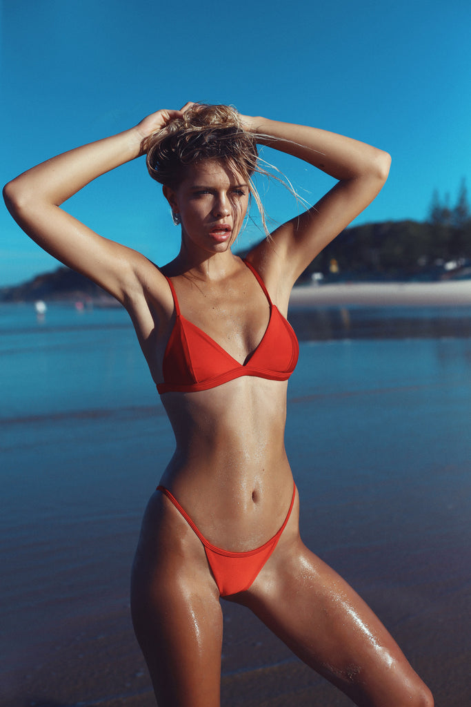 DARLING BRALETTE RUBY G3 BOTTOM METALLIC RED FRANKIE SWIMWEAR FRANKIESWIMWEAR FRANKII SWIM FANKIISWIM BIKINI SWIMWEAR