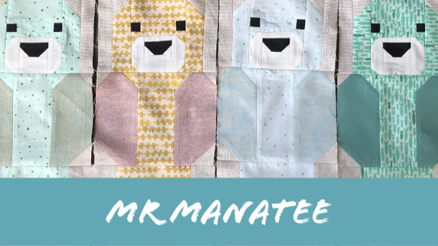 Mr Manatee - tips for making these Awesome Ocean sampler blocks