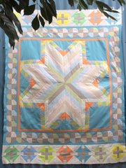 The Great Pixie QAL - the shoo-fly border and a new baby quilt version