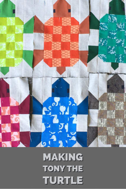 Making Elizabeth Hartman's Tony the Turtle blocks
