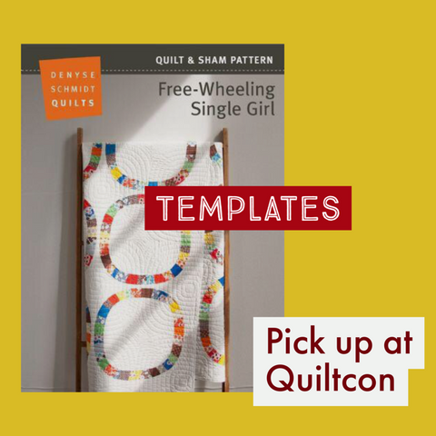 Free-wheeling single girl templates at quiltcon