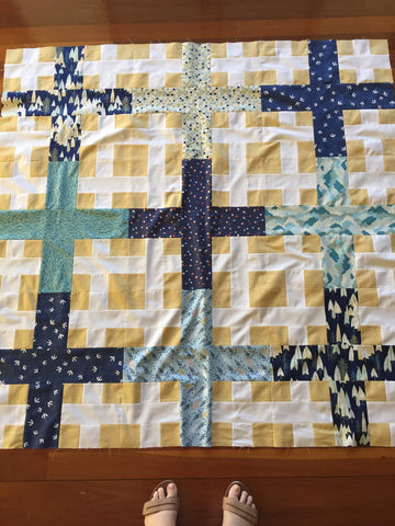 picnic plaid quilt with altitude fabric