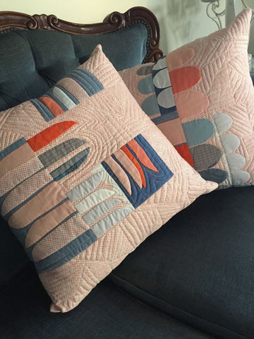 hesperides cushions in euclid fabric