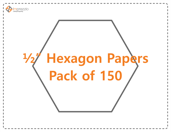 "1/2"" hexagon papers - pack of 150"