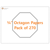"3/4"" Octagon papers - pack of 270"