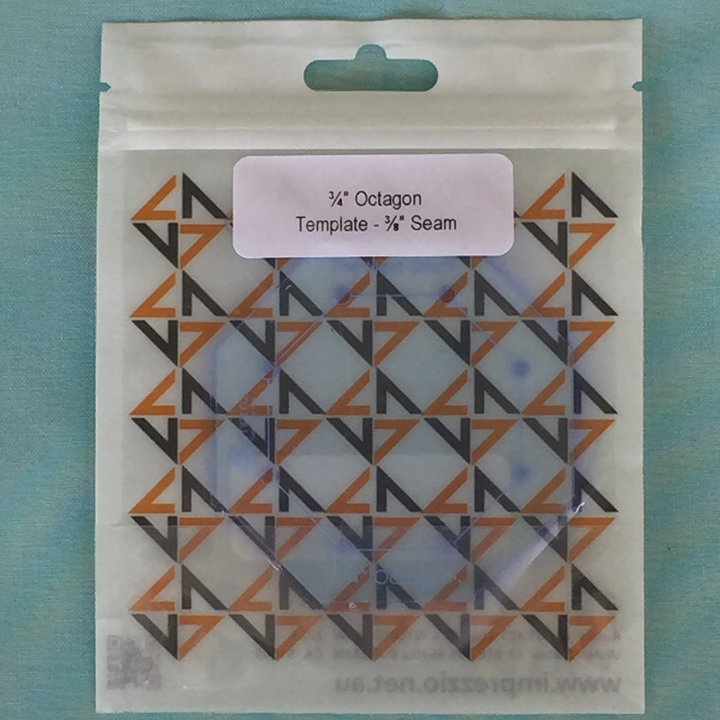 "3/4"" octagon template - 3/8"" seam"