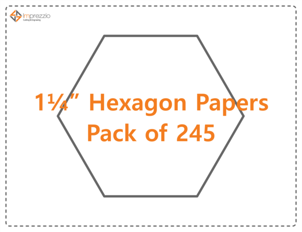 "1.25"" Hexagon papers - pack of 245"
