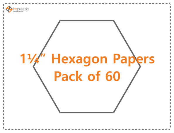 "1.25"" Hexagon papers - pack of 60"