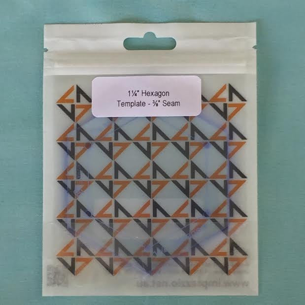 "1.25 inch hexagon template - 3/8"" seam"
