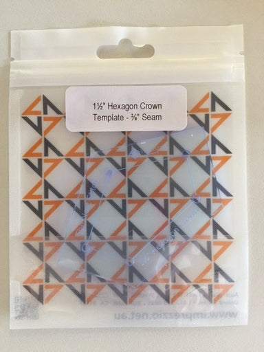 "1.25 inch hexagon crown  template - 3/8"" seam"