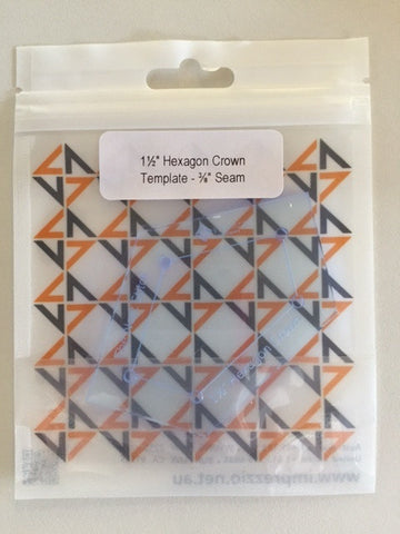 1.25 inch hexagon crown  template - 3/8
