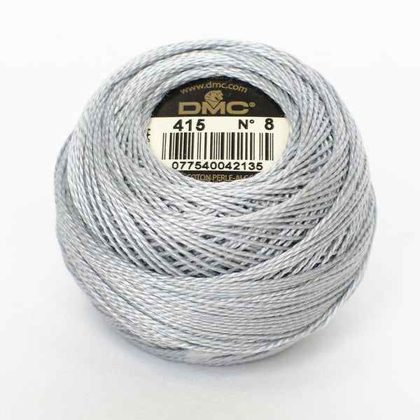 DMC Perle 8 thread - 415 Pearl Grey