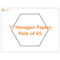 "1"" Hexagon papers - pack of 65"