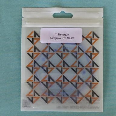 "1 inch hexagon template - 3/8"" seam"