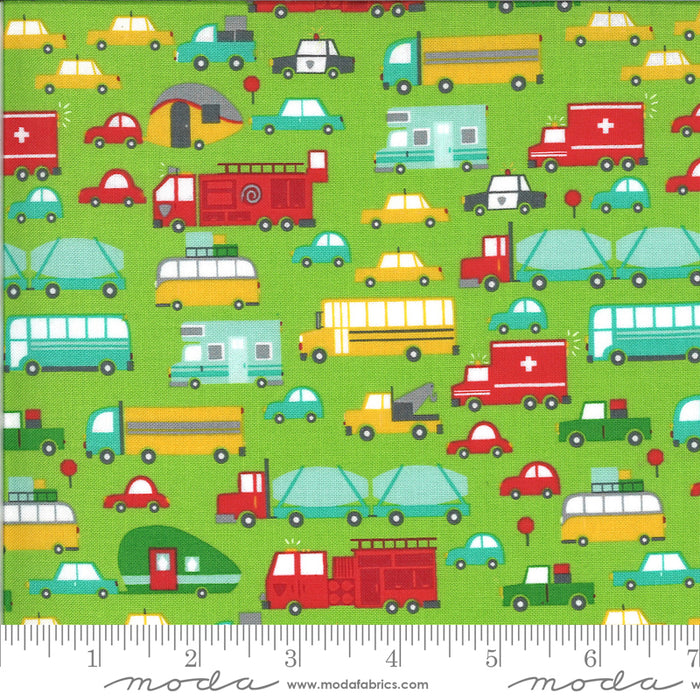Stacy Iest Hsu - On the Go - Vehicles in grass - The Next Stitch