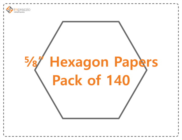 "5/8"" hexagon papers - pack of 140"