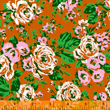 Annabel Wrigley - Posy - Big Bright Roses in rust - The Next Stitch