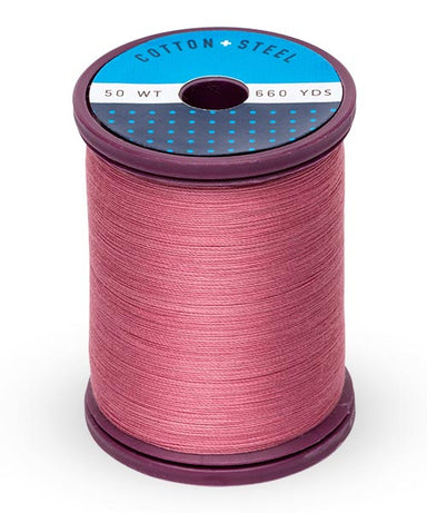 Cotton and Steel Thread by Sulky - Dark Rose