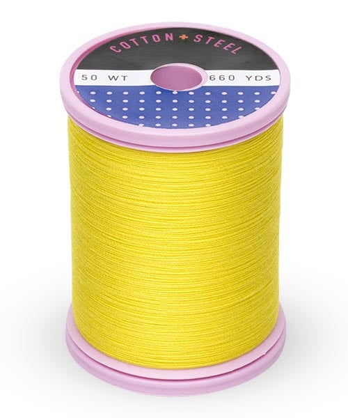 Cotton and Steel Thread by Sulky - Mimosa Yellow