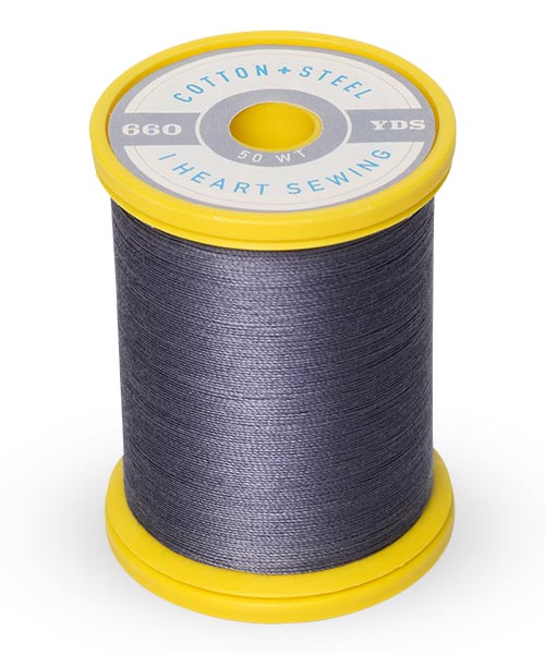 Cotton and Steel Thread by Sulky - Smokey Grey 753-1240