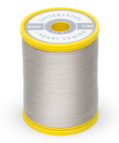 Cotton and Steel Thread by Sulky - Nickel Grey