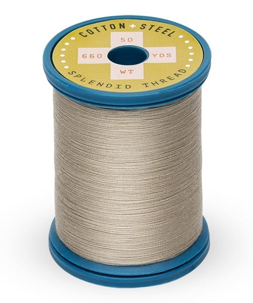 Cotton and Steel Thread by Sulky - Greige