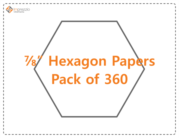 "7/8"" hexagon papers - pack of 360"