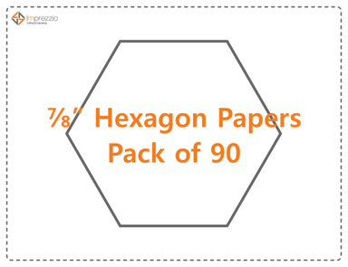 "7/8'""hexagon papers - pack of 90"