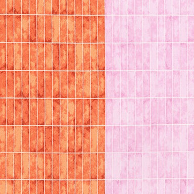 Carolyn Friedlander - Jetty - Wall Tile in nectarine - The Next Stitch
