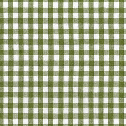 Kitchen Window Wovens - 1/2 inch gingham in Avocado