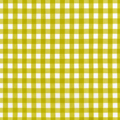 Kitchen Window Wovens - 1/2 inch gingham in Pickle