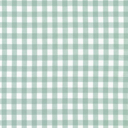 Kitchen Window Wovens - 1/2 inch gingham in Sage