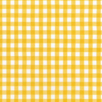 Kitchen Window Wovens - 1/2 inch gingham in Grellow