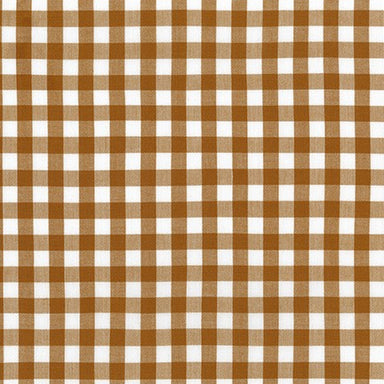 Kitchen Window Woven - 1/2 inch gingham in Roasted Pecan