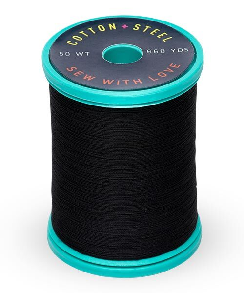 Cotton and Steel Thread by Sulky - Black