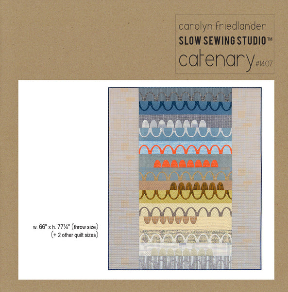 Caternary Quilt pattern - by Carolyn Friedlander