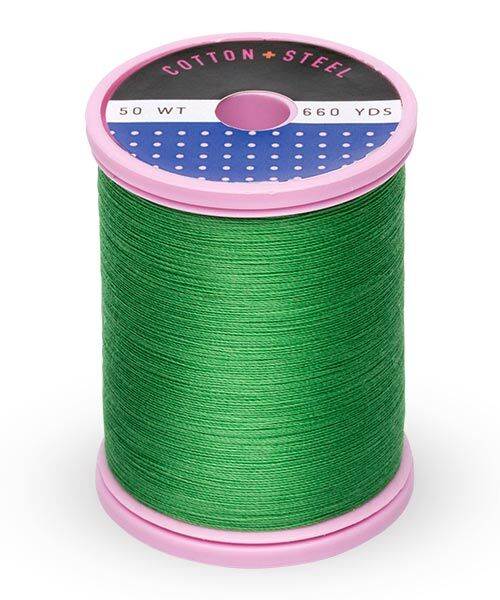 Cotton and Steel Thread by Sulky - Christmas green
