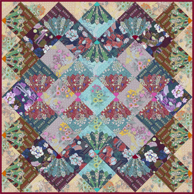 Wild - Conservatory Chapter 3 - One Mile Radiant digital quilt pattern