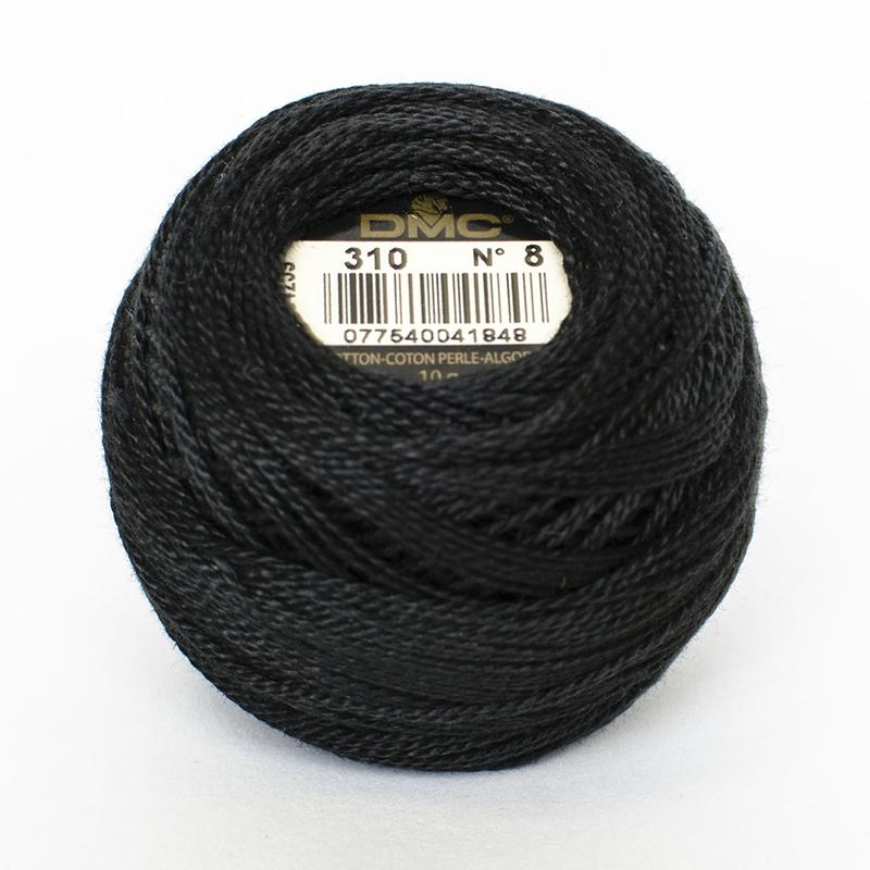 DMC Perle 8 thread - 310 - Black - The Next Stitch