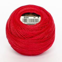 DMC Perle 8 thread - 666 - Bright Red