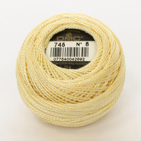 DMC Perle 8 thread - 745 - light pale yellow